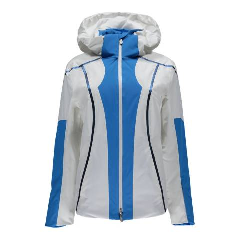 Spyder Women's Blue and White Project Hooded Jacket