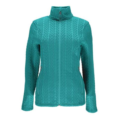 Spyder Women's Turquoise Major Cable Sweater