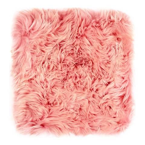 Royal Dream Heavenly Pink Sheepskin Chair Pad 40x40cm