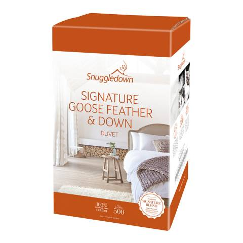 Snuggledown Goose Feather & Down Double 4.5 Tog Duvet