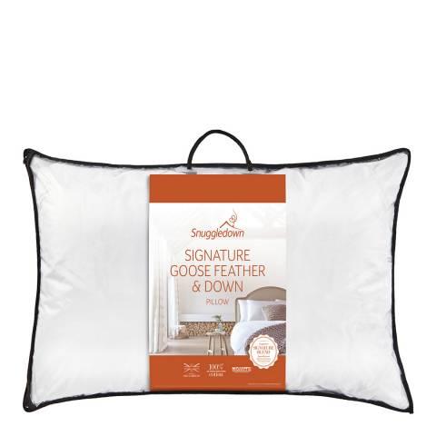 Snuggledown Goose Feather & Down Pillow, Medium/Firm