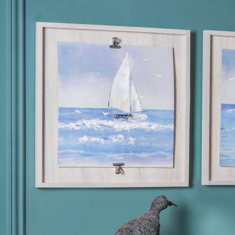 Gallery Sailing The Breeze II Framed Art 53x53cm