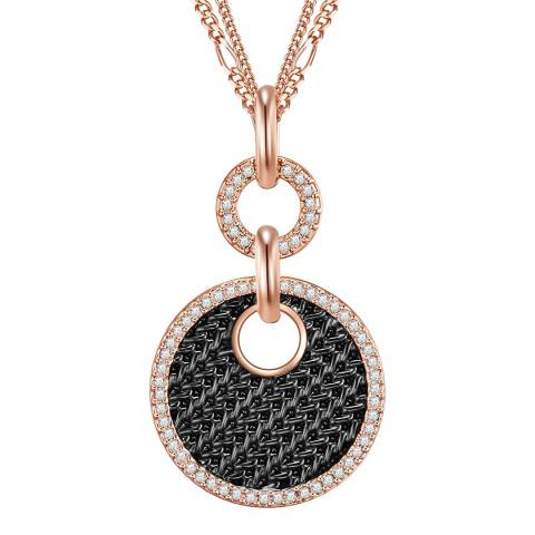 Saint Francis Crystals Rose Gold and Black Crystal Pendant