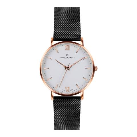 Frederic Graff Womens Black Dent Blanche Watch 40 mm