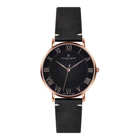 Frederic Graff Women's Black Dom Watch 40 mm