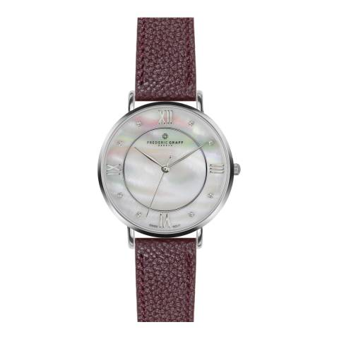 Frederic Graff Women's Lychee Bordeaux Liskamm Watch 38 mm