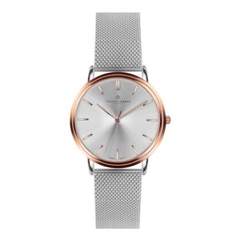 Frederic Graff Womens Silver Breithorn Watch 40 mm