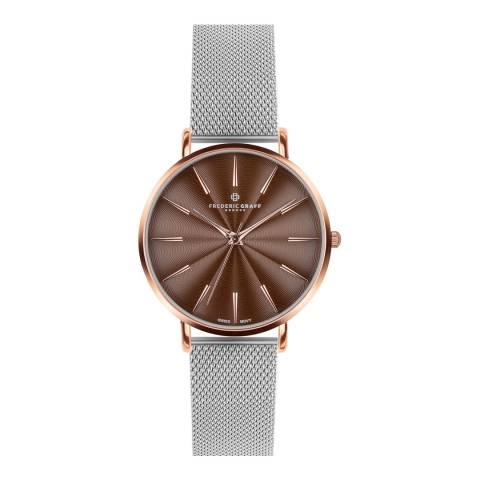 Frederic Graff Women's Silver Monte Rosa Watch 38 mm