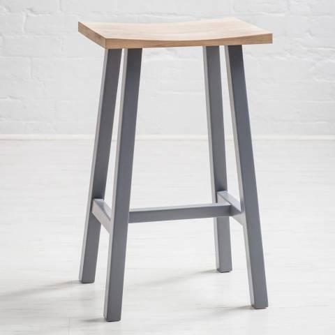 Maine Furniture Co. Hudson Oak & Grey Breakfast Bar Stool