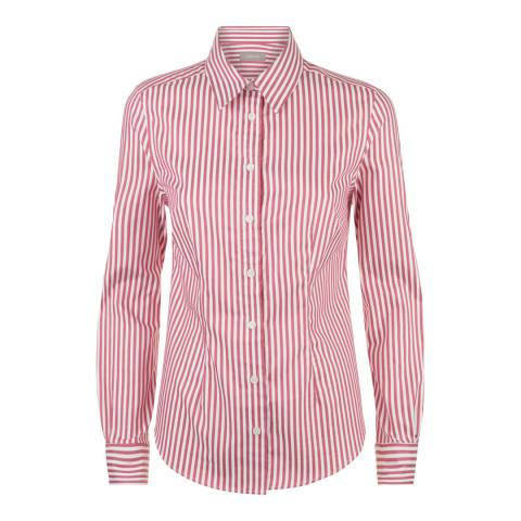 Jaeger Pink Bold Stripe Cotton Shirt