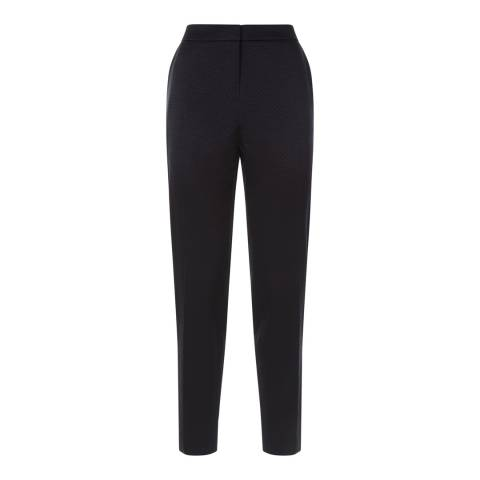 Jaeger Navy Jacquard Tailored Trousers