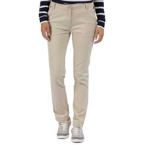 Regatta Warm Beige Cotton Querina Chino Trousers