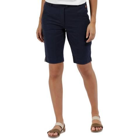 Regatta Women's Navy Cotton Sophillia Shorts