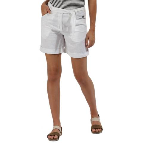 Regatta White Cotton Samarah Shorts
