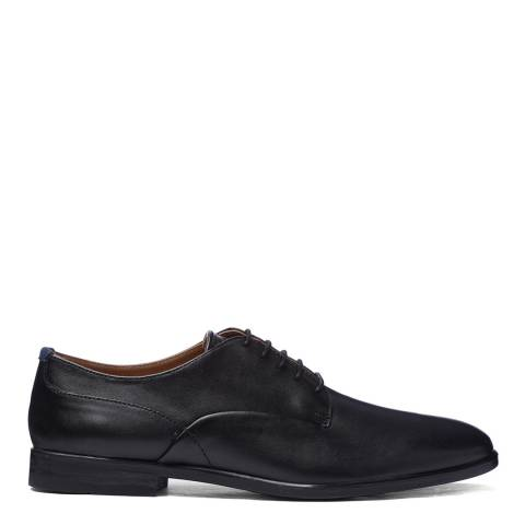 H by Hudson Black Leather Axminster Derby Shoes
