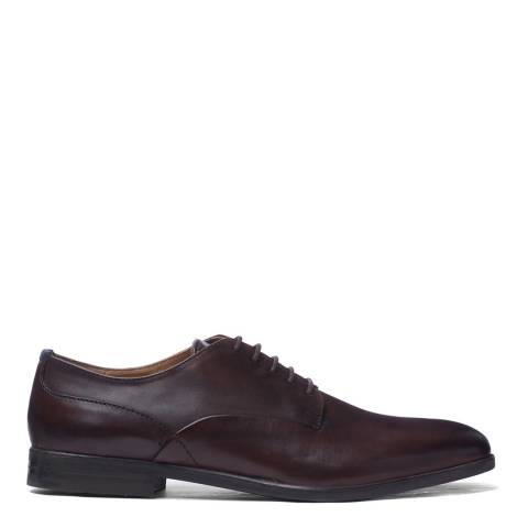 H by Hudson Brown Leather Axminster Derby Shoes