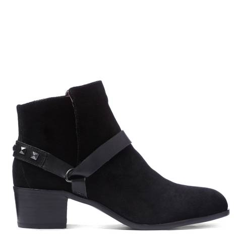 H by Hudson Black Suede Aylene Ankle Boots