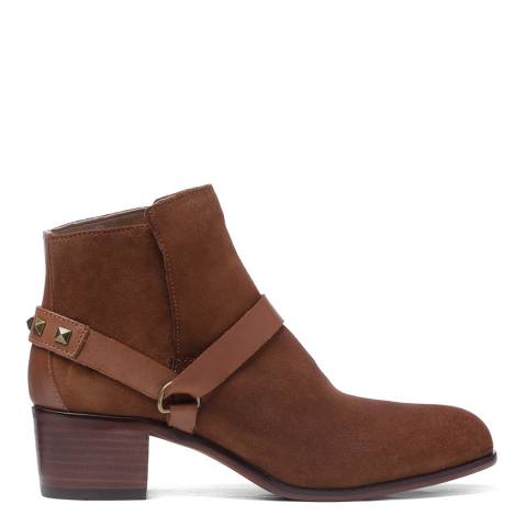 Hudson London Tan Suede Aylene Ankle Boots
