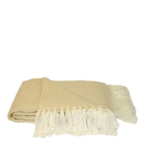 Paoletti Cream Faux Mohair Throw 127x180cm