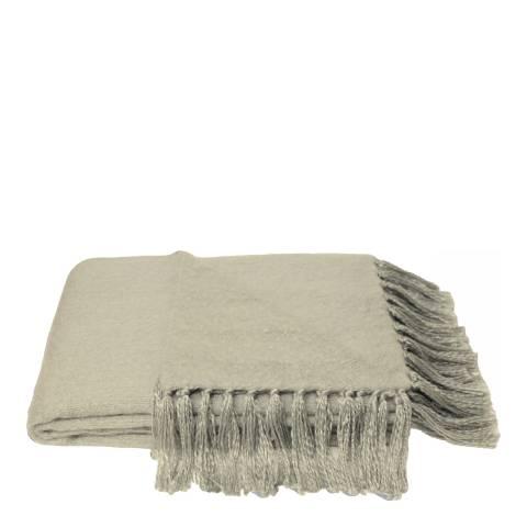 RIVA home Grey Faux Mohair Throw 127x180cm