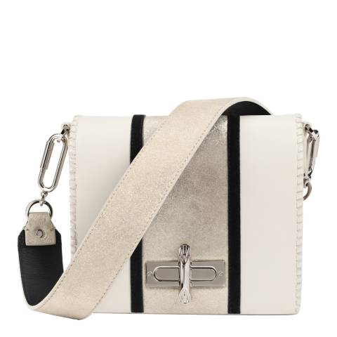 Amanda Wakeley Mineral/Sabbia Leather The Stripe Costello Bag