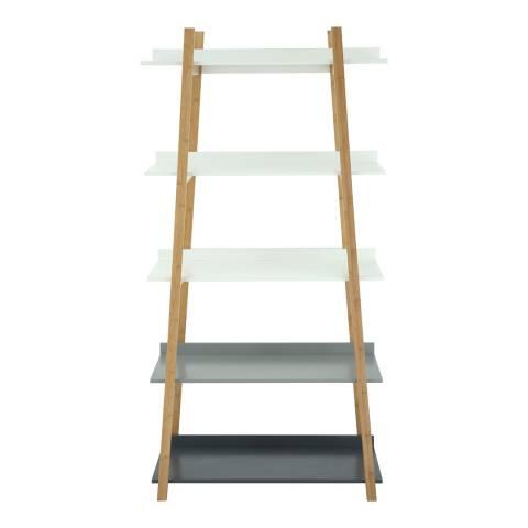 Premier Housewares Grey/Bamboo Nostra Shelf Unit