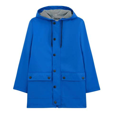 Petit Bateau Royal Blue Parka Raincoat