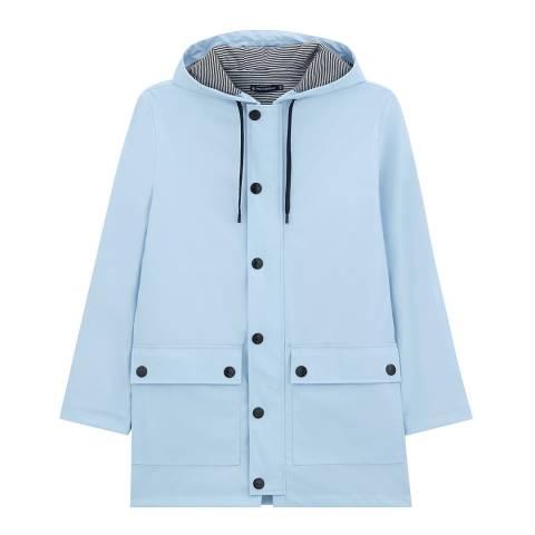 Petit Bateau Light Blue Parka Raincoat