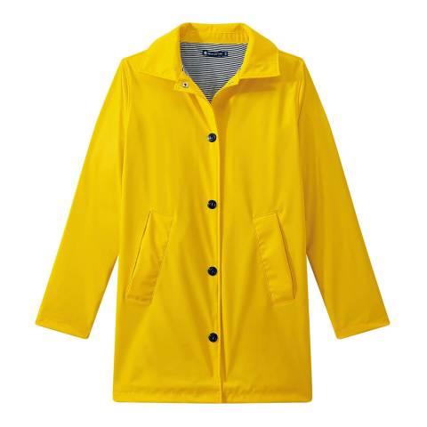 Petit Bateau Yellow Overcoat Style Waterproof Raincoat