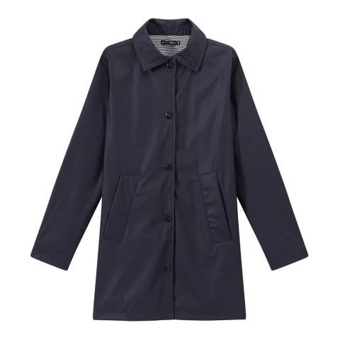 Petit Bateau Dark Navy Overcoat Style Waterproof Raincoat