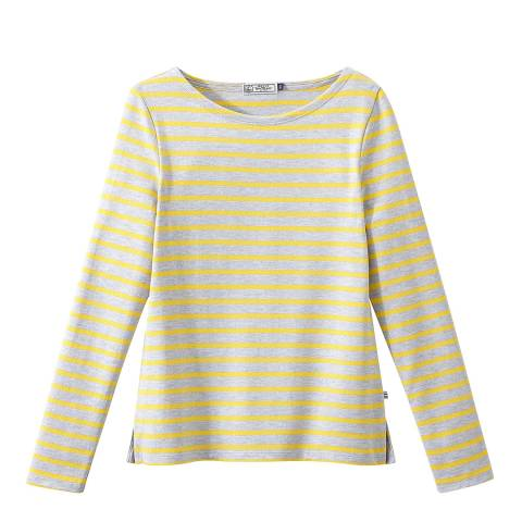 Petit Bateau Grey/Yellow Iconic Breton Stripe Top