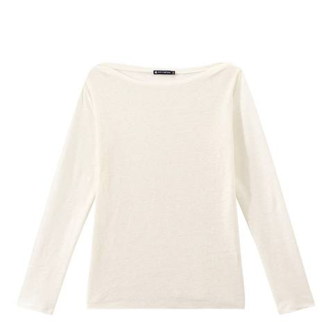 Petit Bateau Iridescent Linen Long Sleeve Top