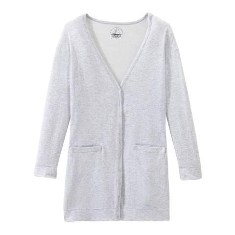 Petit Bateau Grey Light Tube Knit Long Cardigan