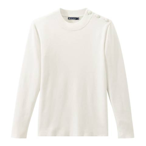 Petit Bateau Off White Sailor Knit Jumper