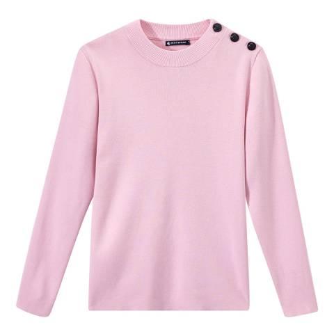 Petit Bateau Pink Sailor Knit Jumper