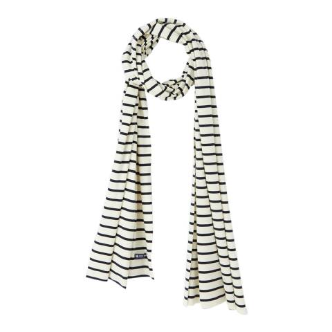 Petit Bateau Navy/Cream Stripe Cotton Scarf