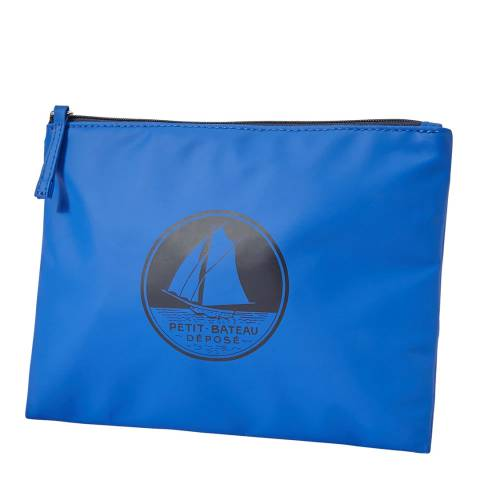 Petit Bateau Blue Waterproof Clutch Bag