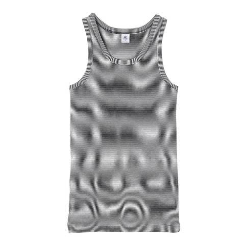 Petit Bateau Navy/Off White Stripe Cotton Vest