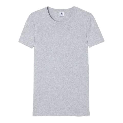Petit Bateau Grey Heritage Rib Cotton T-Shirt