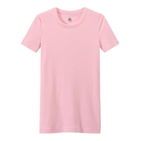 Petit Bateau Pink Heritage Rib Cotton T-Shirt
