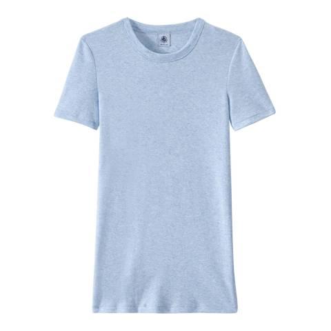 Petit Bateau Blue Heritage Rib Cotton T-Shirt