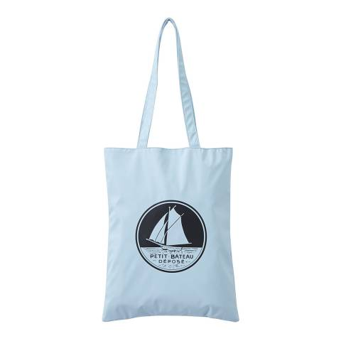 Petit Bateau Light Blue Shoulder Tote Bag