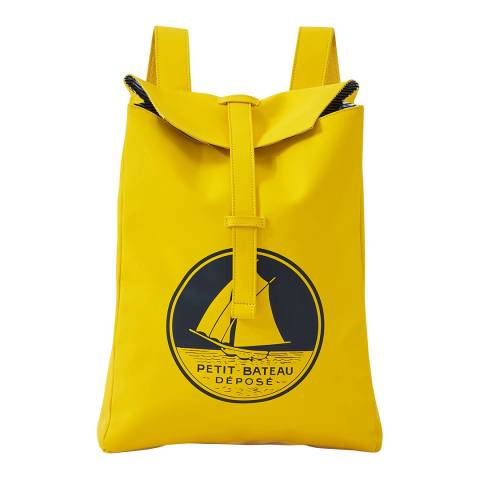 Petit Bateau Yellow Rectangular Backpack