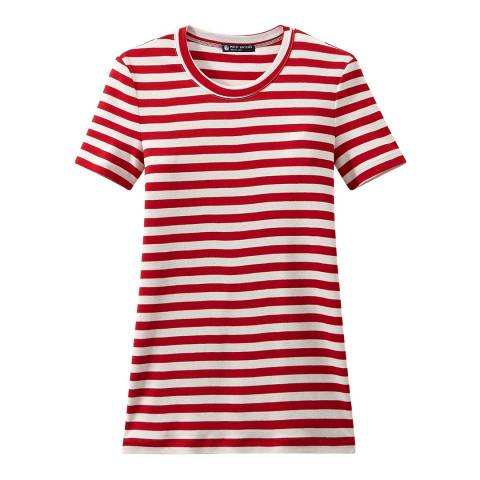 Petit Bateau Red/White Heritage Striped Rib T-Shirt