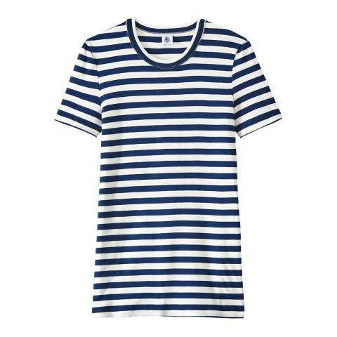 Petit Bateau Navy/White Heritage Striped Rib T-Shirt