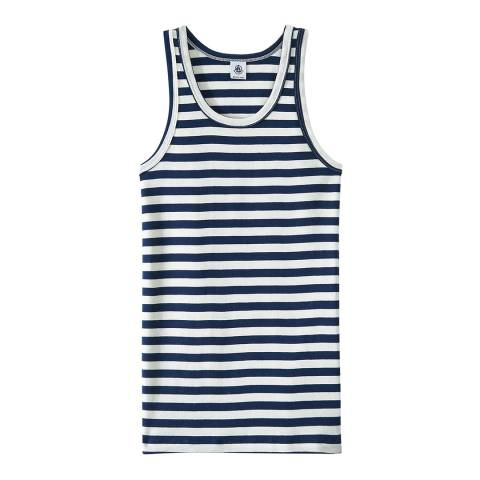 Petit Bateau Navy/White Heritage Striped Rib Vest Top