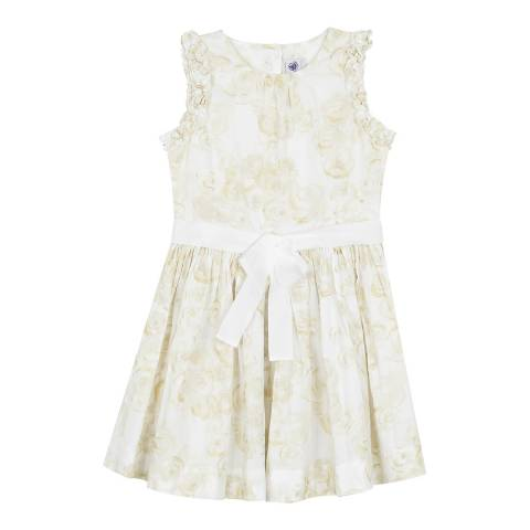 Petit Bateau Cream Printed Sleeveless Dress