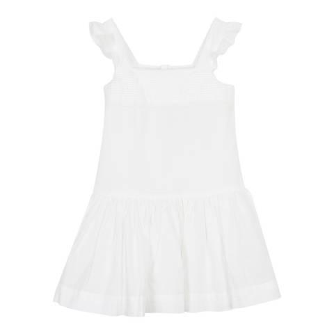 Petit Bateau Cream Lace And Cotton Dress