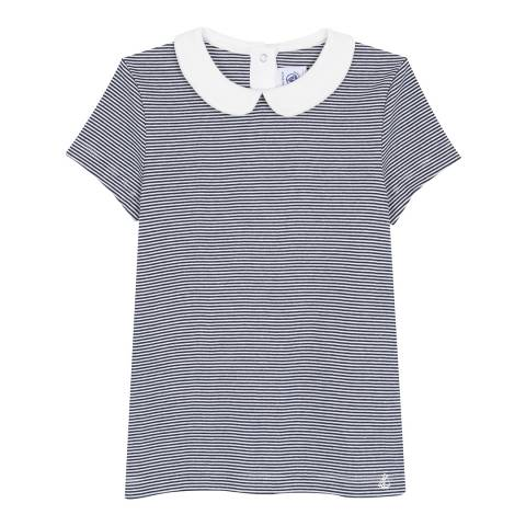 Petit Bateau Navy/Cream Striped T-Shirt