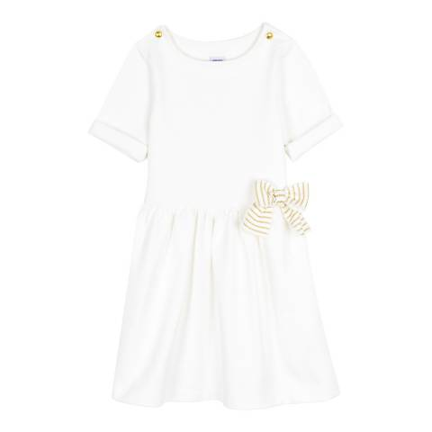 Petit Bateau White Dress With Boat Neck